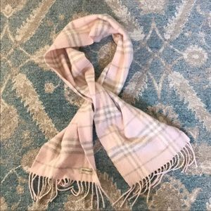 Burberry authentic pink vintage checked scarf EUC